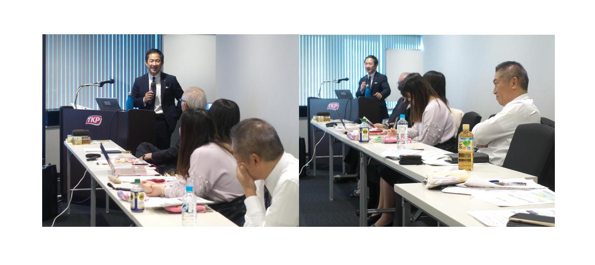 アース研究会様例会で講演するCOO江崎