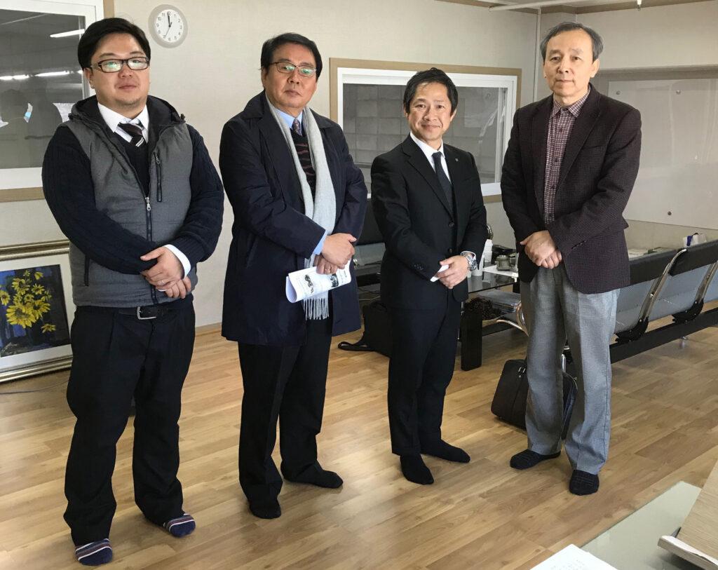 韓国提携先商社(内外NT交易)様との記念撮影